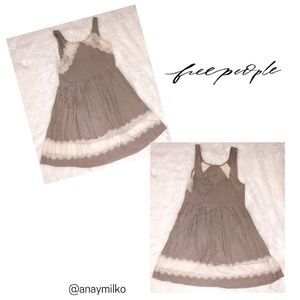 Free People Brown Lace Dress Slip size 6